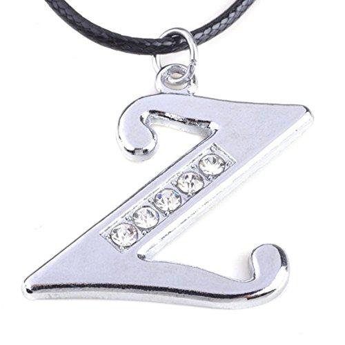 05e713baf667 Funnyrunstore Inicial Collar de Acero de Titanio Collar Colgante A-Z Color  Plata Colgantes de Cadena de