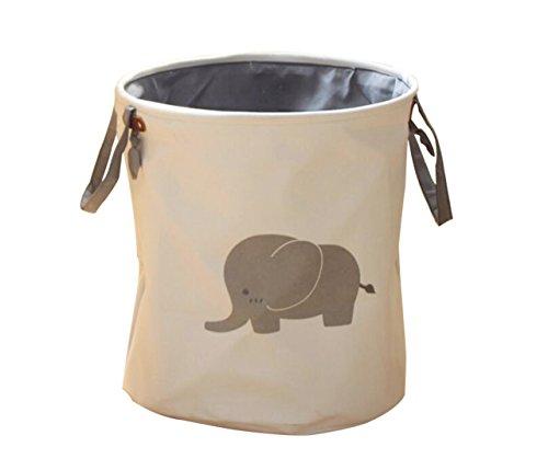 Sorje cestini portabiancheria nursery organizer per giocattoli dei bambini, camere da letto e vestiti-cesto per la biancheria/organizer/storage bins grey elephant