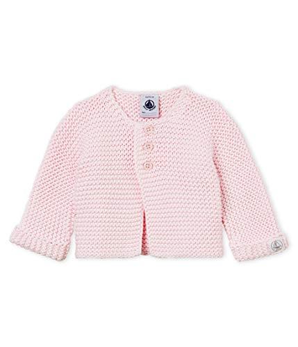 Petit Bateau Baby - Mädchen Strickjacke Cardigan_4615105, Pink (Vienne 05), 56 (Herstellergröße: 1M/54cm)