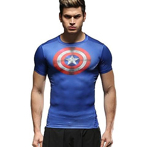 Cody Lundin® Superhero Movie temático Hombre camiseta de la camisa de fitness compresión, Camisa cuello redondo manga corta