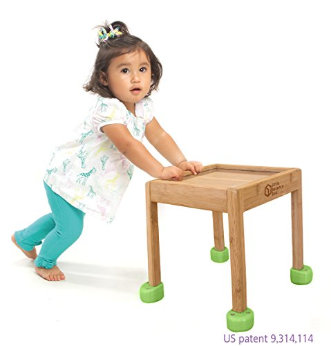 Little Balance Box 2 en 1: déambulateur sans roues, jouet à pousser, table d'activités pour enfants (vert)