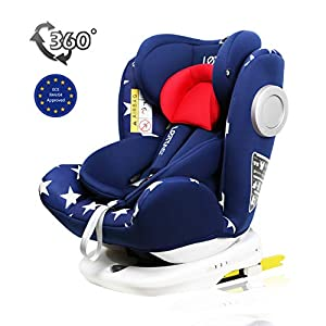 LETTAS Baby Car Seat for Child Group 0+/1/2/3 (0-36 kg/0-12 Year) ISOFIX+ Top Tether Rotation 360° (Star)   9
