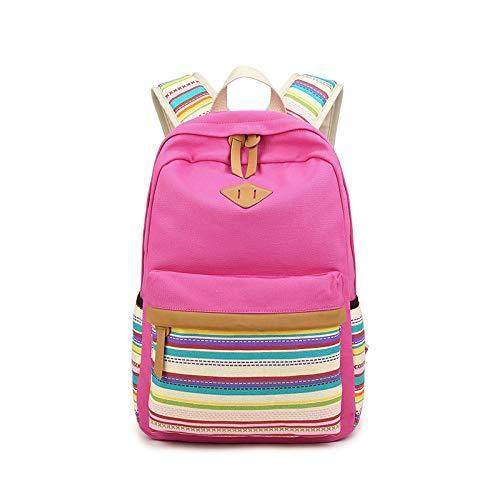 Hanggg Studentessa dello zaino casuale dello studente della borsa del computer dello zaino dello zainetto