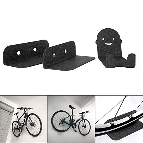 Cutito 3 Piezas Bicicleta Soportes, Acero Soporte Pared Bicicleta Soporte, Pedales Neumático Almacenaje...