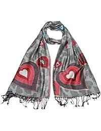 Lovarzi Damen Schal mit Herzen Muster - Hinreißend Herz Pashminas