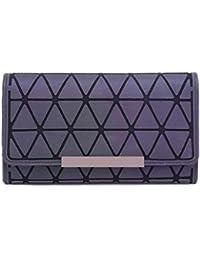 8d64864c9f689 HUIMIN PVC-geometrische Bunte dreifachgefaltete Lange Handytasche-Geldbörse  der Handtasche Frauen (Farbe