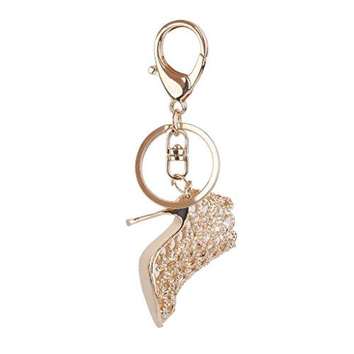 Tery Fashion High Heels Glamour Schlüsselanhänger mit Karabinerverschluss goldfarben -