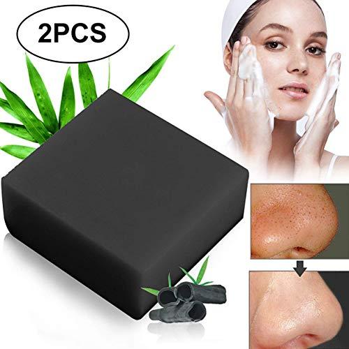 Schwarze Seife,Seife Bambuskohle,Handgemachte Seife,Ideal für Tiefenreinigung, Entschlackender Gesicht,Bamboo Charcoal Facial Soap,handgemachte Aktivkohle Seife -