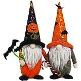 Säsongsbetonad gnome statyetter kollektion (Halloween häxa par)
