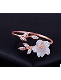 Intelligent Damen 925 Silber Finger Ring Blume Blüte Blatt Baum Ast Natur Schmuck Geschenk Ringe