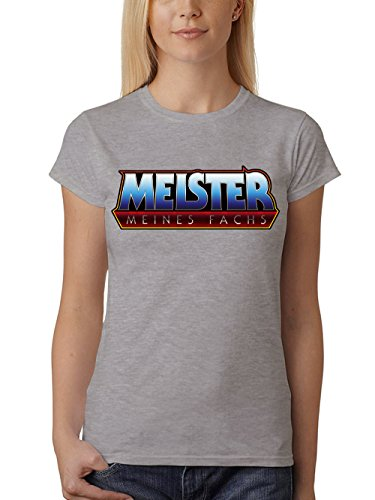 clothinx Damen T-Shirt Meister meines Fachs Sports Grey