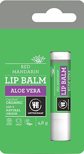 Mandarin Lippenbalsam (Urtekram Aloe Vera Lippenbalsam BIO, rote Mandarine)