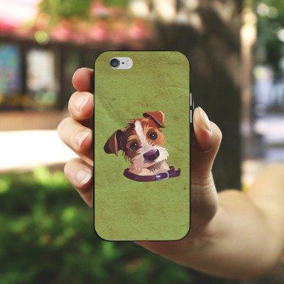Apple iPhone X Silikon Hülle Case Schutzhülle Jack Russell Hund Dog Silikon Case schwarz / weiß