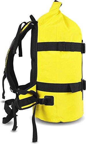 Rucksack Wasserdichter Trekking-Rucksack aus LKW-Plane, 40 Liter Gelb