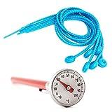 Lantelme 7141 Fleischthermometer Analog und 6 Stück Silikon Rouladenbinder im Set