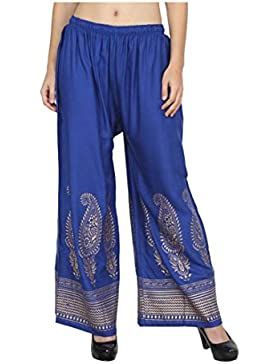 Indian Handicrfats Export Skyline Trading Relaxed Women's Blue Trousers