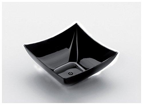 Gold Plast - Coppetta Quadrata, colore nero - 8 pz per confezione, Capienza 90 cc