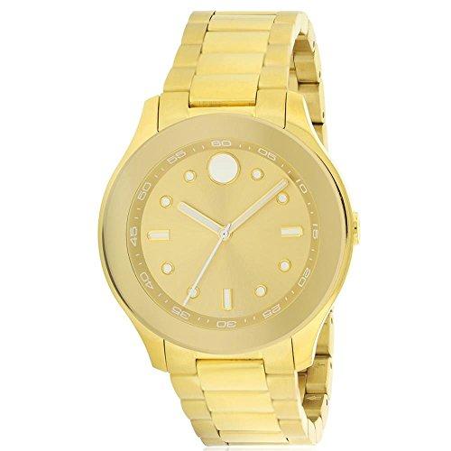 MOVADO Women's Gold Tone Steel Bracelet & CASE Swiss Quartz Watch 3600416