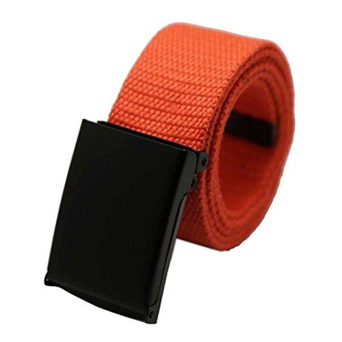 Traumzimmer Unisex Plain Webbing Männer Jungen Taille Gürtel Casual Leinwand Bund orange (Erwachsene Feuerwehr Anzug)