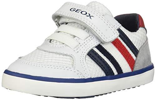 Geox Baby Jungen B Kilwi Boy C Sneaker, Weiß (White/Grey C0284), 22 EU