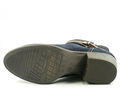 Tamaris Damen 25010 Stiefel Blau (Navy/Espresso)