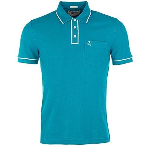 Mens Original Penguin Mens Earl Polo Shirt in Turquoise -