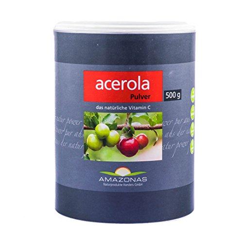 Amazonas Acerola 100{9aa1f67b6873ec221f8681acc3171c7f4e9c415e1c15a0a3316f7d87d49cb4ce} Pulver, 500 g