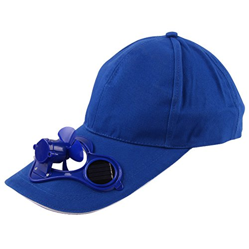 TrifyCore Gorra de Béisbol De Sol Anti-Ultravioleta con Ventilador Solar Protección del Sol al Aire Libre (Azul)