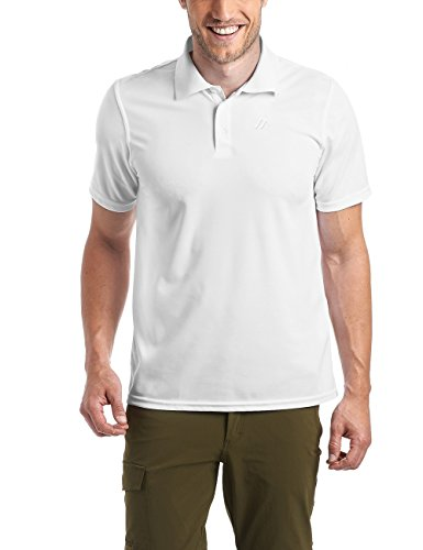 Maier Sports Herren Polo 1/2 Arm T-shirt, white