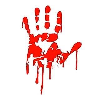 Dandeliondeme Lustige Blutstropfen Hand reflektierende Aufkleber Auto-Styling LKW Fahrzeug Aufkleber Dekor Red