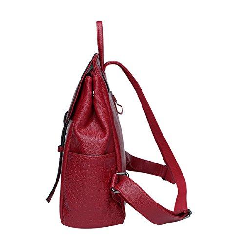 Frau Art Und Weise Beiläufige Rucksack-Taschen Purple