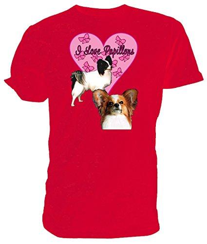 Comprar Barato Cómoda I Love Papillons T Shirt rosso Salida Bajo Precio De Envío De Pago Venta Barata De Bajo Coste Envío Libre Muy Barato Venta Barata De Ebay 00tljGwj8