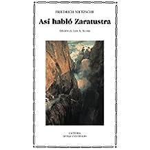Así habló Zaratustra (Letras Universales)