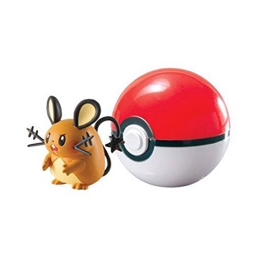 Pokemon-Poke Ball per viaggiare t18870/T18532pokemonfigur DEDENNE nel Poke Ball