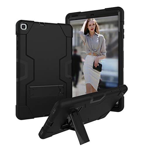 Hülle für Samsung Galaxy Tab A, Amuse-MIUMIU Tablet Stand Rugged Cover Hartschalenetui Kratzfest Anti-Fall Silikon Schutzhülle für Samsung Galaxy Tab A 10.1 T510 T515 2019 (Schwarz) (Gel-fällen Für Samsung-tablets)