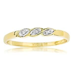 Ornami Glamour - Bague - Or jaune - Diamant - T52 - 1448DL