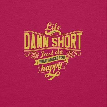 TEXLAB Texlab - Life Is So Damn Short, Borsetta da polso donna Fucsia