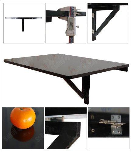 Sobuy tavolo da muro pieghevole in legno 75 60cm nero senza sedia fwt01 sch it tavoli da - Tavolo da muro pieghevole ...