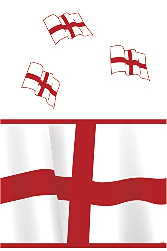 Unique Party Supplies Kunststoff ST George 's Cross England Tischdecke, 7ft x 4.5ft (Supplies Party George)