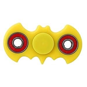 HENGSONG ADHS Toys Fledermaus-Form Finger Spinner Hand Fidget Spielzeug für Kinder und Erwachsene Spielzeug Geschenke (Gelb)