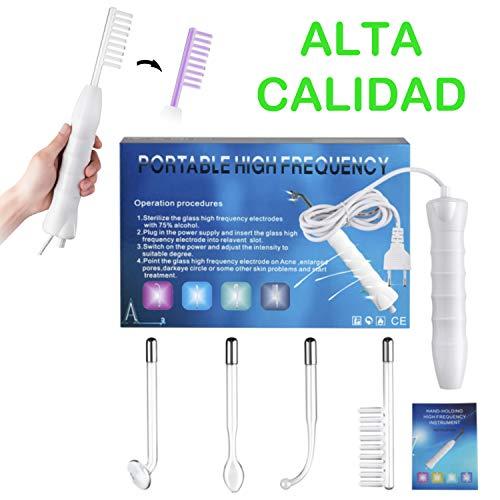 SuperMega® 006A - Alta Frecuencia Estetica Facial, Maquina cuidado facial para Quitar...