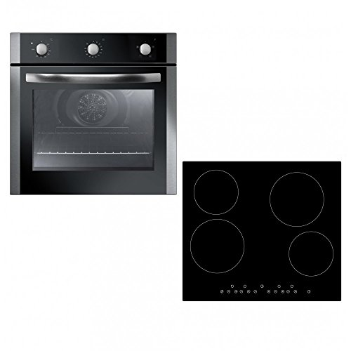 Unbranded Single Built-in Electric Fan Oven & Touch Control Ceramic Hob Pack
