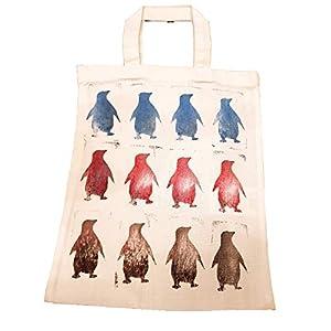6tlg Überraschungsset mit Geschenktasche Stoffbeutel Pinguin Mädchen Jungen Weihnachten Täschchen gestempelt handgemacht handmade