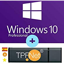 MS Windows 10 Pro 32 Bits y 64 Bits - Clave de Licencia Original con Memoria USB de Arranque de - TPFNet®