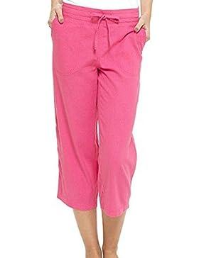 INSIGNIA Mujer Forrado Pantalones Casual Corto 3/4 Corto con Bolsillo 10-24 Talla