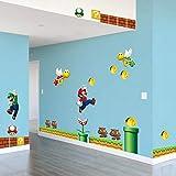 GemengTM Autocollant Super Mario, Sticker Mural Chambre d'enfants
