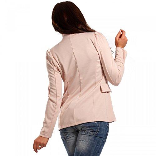 Made Italy - Veste de tailleur - Uni - Manches Longues - Femme Rose