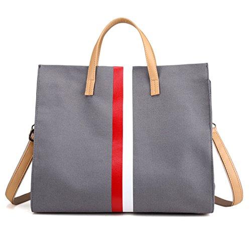 Ladies singola borsa a tracolla,borsa di tela,portatile/messenger bag-IL Riso Bianco grigio