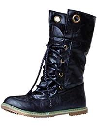 Sale Schneestiefel Damen Casual, Sonnena Warm Winterstiefel Lederstiefel  Flache Ferse Schnürer Schuhe Boots Mode Martin Stiefel… 38580e10fb