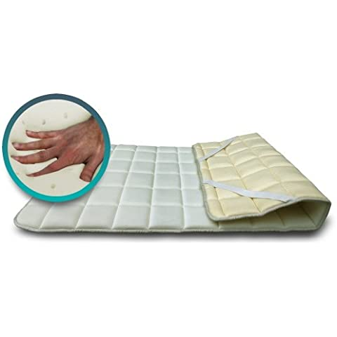 SH3 Topper de Visco Memory Foam Corrector para colchón o tara king size 200x200 Lattice